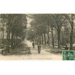 carte postale ancienne 54 NANCY. A la Pépinière. La Terrasse 1914