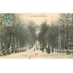 carte postale ancienne 54 NANCY. A la Pépinière. Allée du Jet d'Eau 1907
