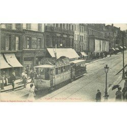 carte postale ancienne 54 NANCY. Rue Saint-Dizier Point Central. Tramway 1909. Bord droit mou...