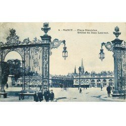 carte postale ancienne 54 NANCY. Grilles Lamour Place Stanislas 1923