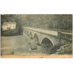 carte postale ancienne 12 LINCOU. Le Pont sur le Tarn