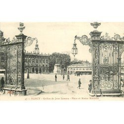 carte postale ancienne 54 NANCY. Grilles Lamour Place Stanislas 47