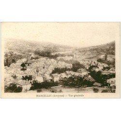 carte postale ancienne 12 MARCILLAC. Vue générale 1951