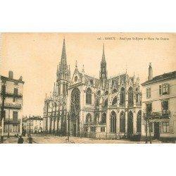 carte postale ancienne 54 NANCY. Eglise Saint-Epure Place des Dames