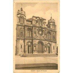carte postale ancienne 54 NANCY. Eglise Saint-Nicolas