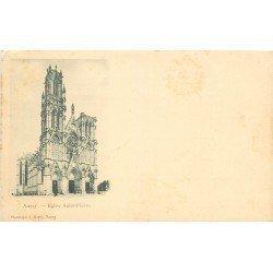 carte postale ancienne 54 NANCY. Eglise Saint-Pierre vers 1900. Minuscule pli