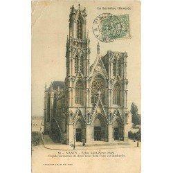 carte postale ancienne 54 NANCY. Eglise Saint-Pierre vers 1906. Plis