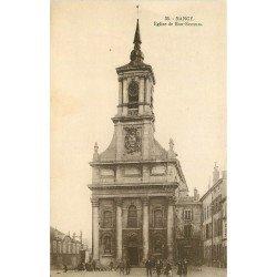 carte postale ancienne 54 NANCY. Eglise de Bonsecours animation