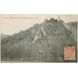carte postale ancienne 12 MIRABEL prèsde Rignac 1904