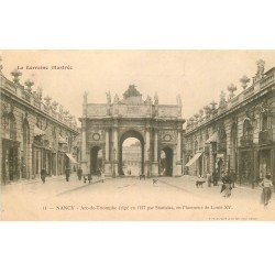 carte postale ancienne 54 NANCY. Arc de Triomphe Louis XV vers 1900