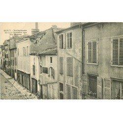 carte postale ancienne 54 NANCY. Bombardement Rue Saint-Anne