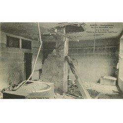 carte postale ancienne 54 NANCY. Bombardement rue Saint-Nicolas Fabrique de chaussures Doerflinger