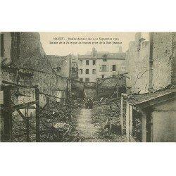 carte postale ancienne 54 NANCY. Bombardement Rue Jeannot Fabrique de brosses animation