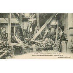 carte postale ancienne 54 NANCY. Bombardement Rue de la Hache Etablissements Eschenlohr