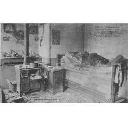 carte postale ancienne 54 NANCY. Bombardement Rue Clodion chambre où il y a eu 2 victimes