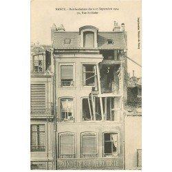 carte postale ancienne 54 NANCY. Bombardement Rue Saint-Dizier Bonneterie Mercerie