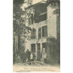 carte postale ancienne 54 NANCY. Bombardement Rue Saint-Dizier Cour Rue Saint-Nicolas animation