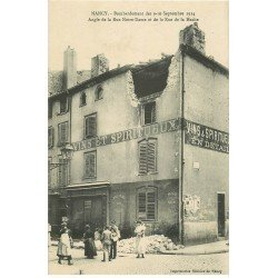 carte postale ancienne 54 NANCY. Bombardement Rue Notre-Dame et de la Hache Cave à vins