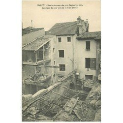 carte postale ancienne 54 NANCY. Bombardement Cour rue Jeannot