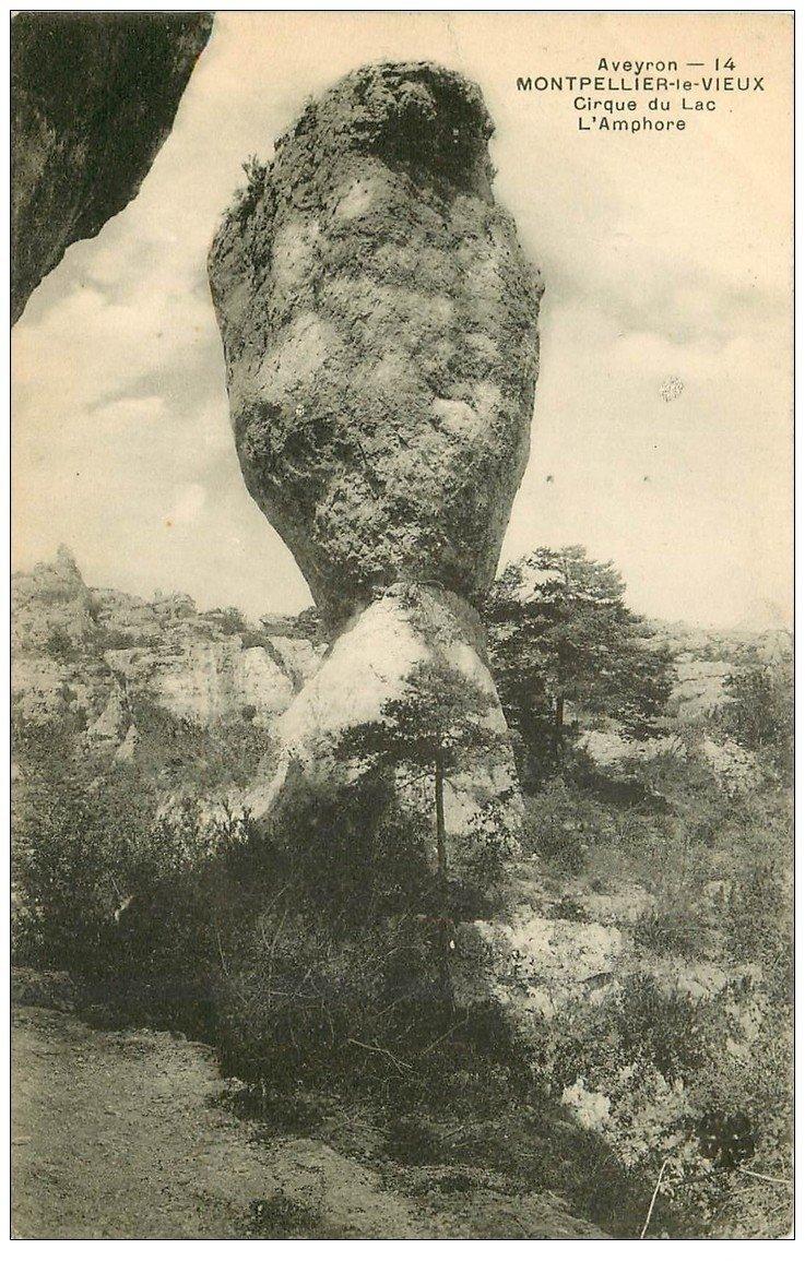 carte postale ancienne 12 MONTPELLIER-LE-VIEUX. L'Amphore Cirque du Lac