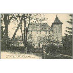 carte postale ancienne 12 MUR-DE-BARREZ. Jardinier Château de Venzac