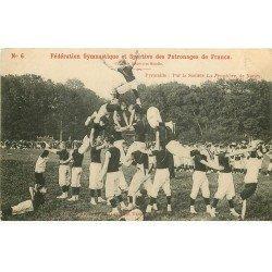 carte postale ancienne 54 NANCY. Fédération Gymnastique Sportive Patronages de France. La Pyramide