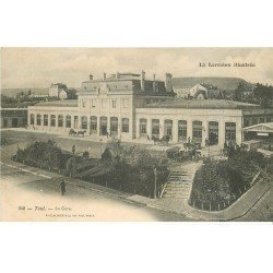carte postale ancienne 54 TOUL. La Gare attelages