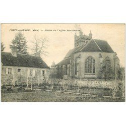 carte postale ancienne 02 CHEZY-EN-ORXOIS. Abside de l'Eglise