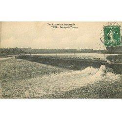 carte postale ancienne 54 TOUL. Barrage de Valcourt 1923