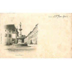 carte postale ancienne 54 TOUL. Place Chanzy 1902