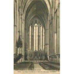 carte postale ancienne 54 TOUL. Cathédrale Choeur et Nef 1940