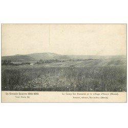 carte postale ancienne 55 AILLY. Village et Camp des Romains 1916