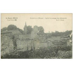 carte postale ancienne 55 AUBREVILLE 1916. Blancs bord droit