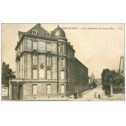 carte postale ancienne 55 BAR-LE-DUC. Ecole de Jeunes Filles 1914