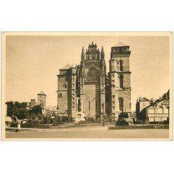 carte postale ancienne 12 RODEZ. La Cathédrale Notre-Dame