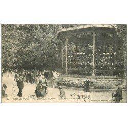 carte postale ancienne 55 BAR-LE-DUC. Musique Militaire au Kiosque du Parc 1914