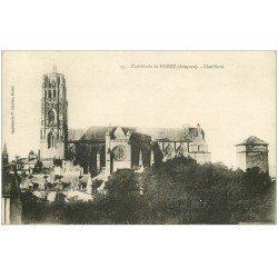 carte postale ancienne 12 RODEZ. La Cathédrale Notre-Dame côté Nord