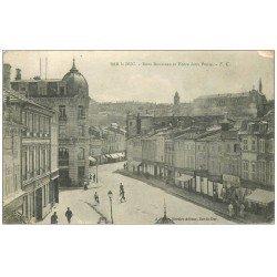 carte postale ancienne 55 BAR-LE-DUC. Rue Rousseau et Entre Deux Ponts