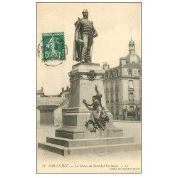 carte postale ancienne 55 BAR-LE-DUC. Statue Maréchal Exelmans 1911