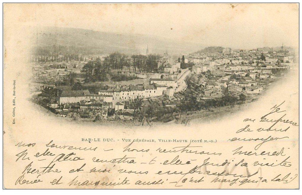 carte postale ancienne 55 BAR-LE-DUC. Ville Haute 1900