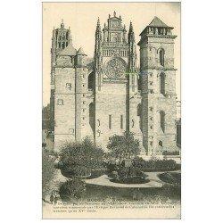 carte postale ancienne 12 RODEZ. La Cathédrale Notre-Dame détruite par les Sarasins
