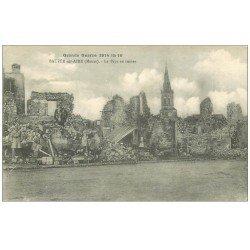 carte postale ancienne 55 BEAUZEE-SUR-AIRE. Soldats dans les ruines