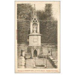 carte postale ancienne 55 BENOITE-VAUX. Fontaine Notre-Dame 1930