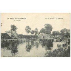 carte postale ancienne 55 BISLEE. La Passerelle 1916