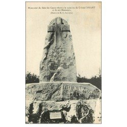 carte postale ancienne 55 BOIS DES CAURES. Monument Colonel Driant et ses Chasseurs