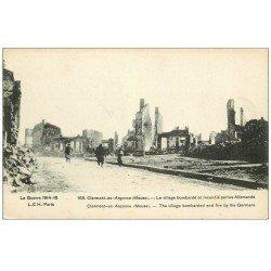 carte postale ancienne 55 CLERMONT-EN-ARGONNE. Village incendié