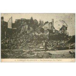 carte postale ancienne 55 CLERMONT-EN-ARGONNE. Vue sur l'Eglise 1915