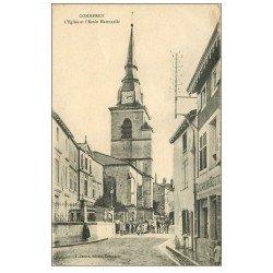 carte postale ancienne 55 COMMERCY. Eglise et Ecole Maternelle