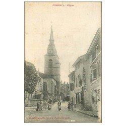 carte postale ancienne 55 COMMERCY. L'Eglise et Restaurant