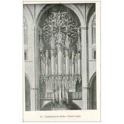 carte postale ancienne 12 RODEZ. La Cathédrale Notre-Dame. Grand Orgue